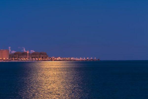 prístav s industriálnym komplexom v zahraničí